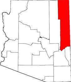 Apache County map